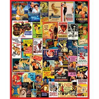 White Mountain Puzzles Classic Movie Posters - 1,000 Piece Jigsaw Puzzle