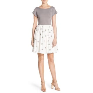 French Connection Polka-dot Cotton Dress