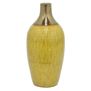 Three Hands Two-Toned Glazed Ceramic Vase