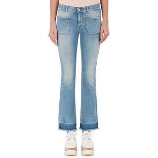 Stella McCartney Women's Light Wash Cotton Kick Flare Jeans|https://ak1.ostkcdn.com/images/products/15411003/P21867462.jpg?impolicy=medium