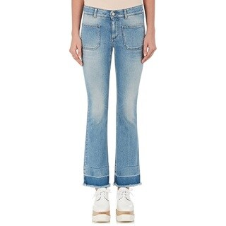 Stella McCartney Women's Light Wash Cotton Kick Flare Jeans (2 options available)