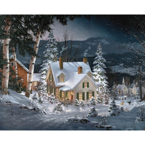 White Mountain Puzzles Friends in Winter - 1000 Piece Jigsaw Puzzle