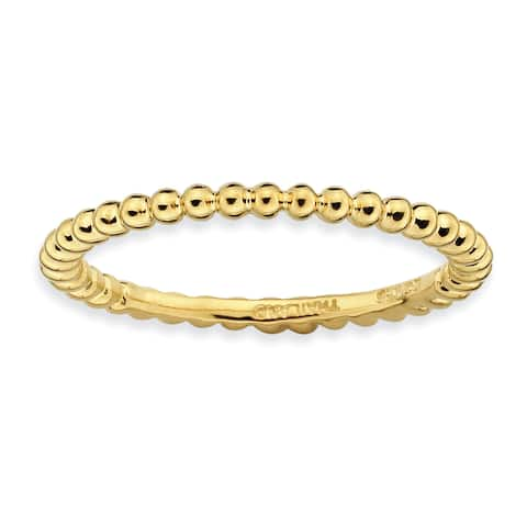 Sterling Silver Stackable Yellow Gold-plated Ring by Versil