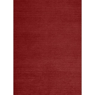 RUGGABLE Washable Indoor/ Outdoor Solid Red Stain Resistant Area Rug (5' x 7')