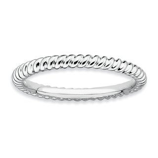 Sterling Silver Affordable Expressions Rhodium Twisted Ring