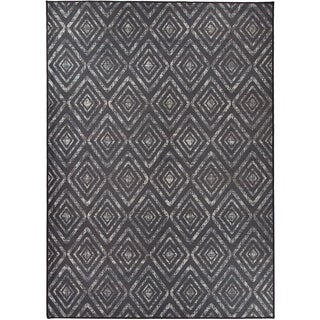 RUGGABLE Washable Indoor/ Outdoor Prism Black Stain Resistant Area Rug (5' x 7')