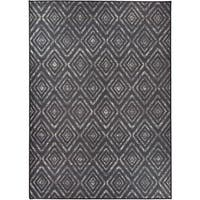 RUGGABLE Washable Indoor/ Outdoor Stain Resistant Pet Area Rug Prism Black (5' x 7') - 5' x 7'