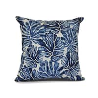 Palm Leaves, Floral Print Outdoor Pillow