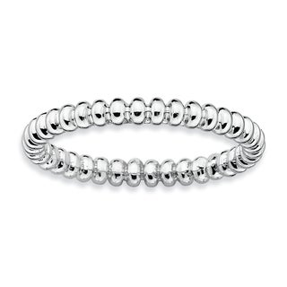 Sterling Silver Affordable Expressions Rhodium Beaded Ring