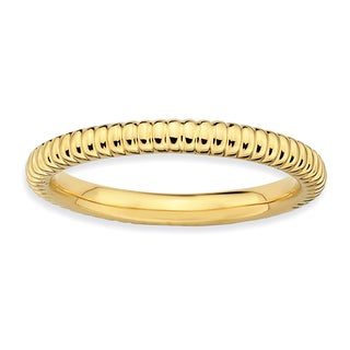 Sterling Silver Affordable Expressions Gold-plated Rice Ring
