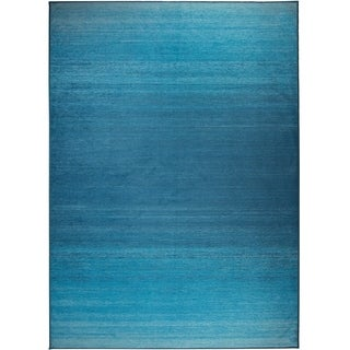 RUGGABLE Washable Indoor/ Outdoor Ombre Blue Stain Resistant Area Rug (5' x 7')
