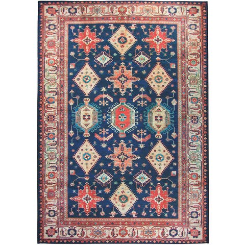 RUGGABLE Washable Stain Resistant Pet Area Rug Noor Sapphire - 5' x 7'
