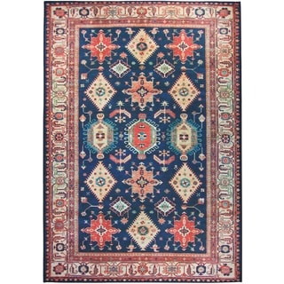 RUGGABLE Washable Indoor/ Outdoor Noor Sapphire Stain Resistant Area Rug (5' x 7') - 5' x 7'