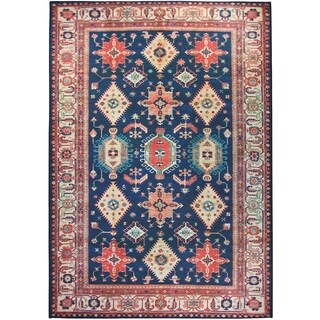 RUGGABLE Washable Indoor/ Outdoor Stain Resistant Pet Area Rug Noor Sapphire (5' x 7') - 5' x 7'