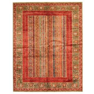 Herat Oriental Afghan Hand-knotted Super Kazak Wool Rug (5' x 6'5)