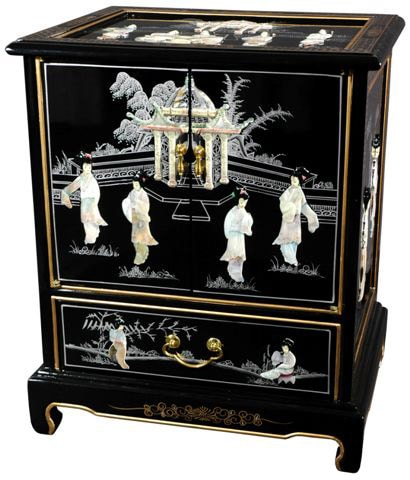 Black Lacquer End Table (China)