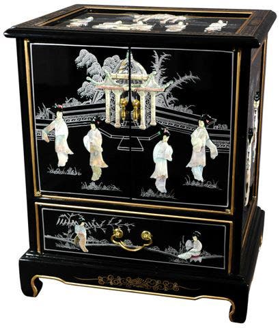 Handmade Black Lacquer End Table (China)
