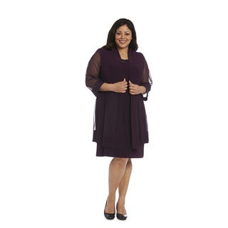 R&M Richards Plus-size Jacket Dress