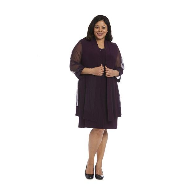 R&M Richards Plus size Jacket Dress Free Shipping Today