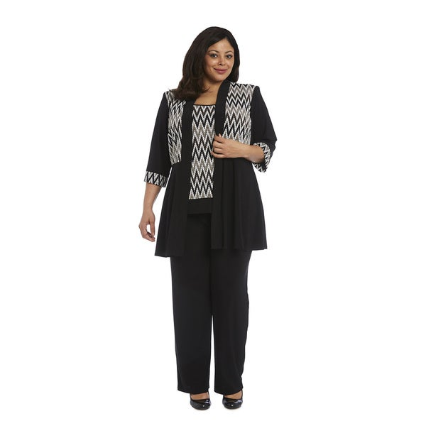 aa09f5a76f6 Shop R M Richards Plus Size Pant Set - Free Shipping Today - Overstock -  15413782