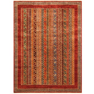 Herat Oriental Afghan Hand-knotted Super Kazak Wool Rug (5'7 x 7'8)