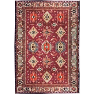 RUGGABLE Washable Indoor/ Outdoor Stain Resistant Pet Area Rug Noor Ruby (5' x 7') - 5' x 7'|https://ak1.ostkcdn.com/images/products/15413905/P21870260.jpg?impolicy=medium