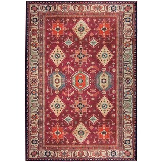 RUGGABLE Washable Indoor/ Outdoor Stain Resistant Pet Area Rug Noor Ruby (5' x 7') - 5' x 7'