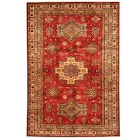 Herat Oriental Afghan Hand-knotted Super Kazak Wool Rug (5'6 x 8')