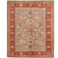 Herat Oriental Afghan Hand-knotted Super Kazak Wool Rug (5'2 x 6'3)