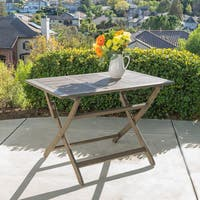 Positano Outdoor Acacia Wood Folding Dining Table by Christopher Knight Home