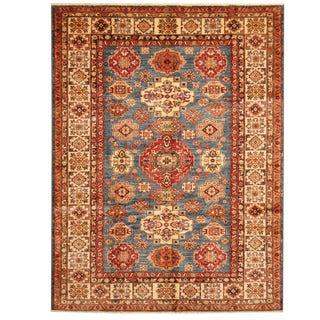 Herat Oriental Afghan Hand-knotted Super Kazak Wool Rug (5'6 x 7'4)