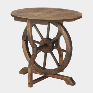 Olmstead Wooden Country-Style Round Table