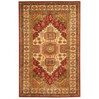 Handmade One-of-a-Kind Super Kazak Wool Rug (Afghanistan) - 5'5 x 8'7