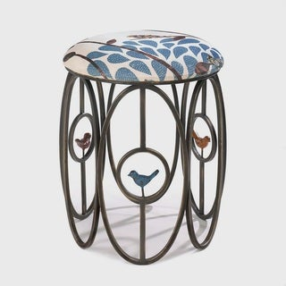 Elroy Metal-Framed Upholstered Stools (2 options available)