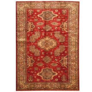 Herat Oriental Afghan Hand-knotted Super Kazak Wool Rug (5'4 x 7'8)