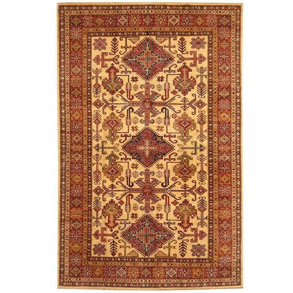 Handmade One-of-a-Kind Super Kazak Wool Rug (Afghanistan) - 5'8 x 8'10