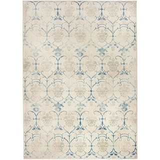RUGGABLE Washable Indoor/ Outdoor Leyla Creme Vintage Stain Resistant Area Rug (5' x 7') - 5' x 7'
