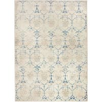 Ruggable Washable Indoor/ Outdoor  Stain Resistant Pet Area Rug Leyla Creme Vintage (5' x 7') - 5' x 7'