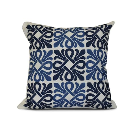 Tiki Square, Geometric Print Outdoor Pillow