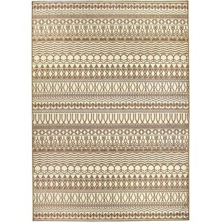 RUGGABLE Washable Indoor/ Outdoor Stain Resistant Area Rug Cadiz Natural (5' x 7')