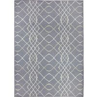 Safavieh Dark Gray Light Grey Indoor Outdoor Area Rug 5