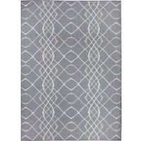 Ruggable Washable Indoor/ Outdoor Stain Resistant Pet Area Rug Amara Grey (5' x 7') - 5' x 7'