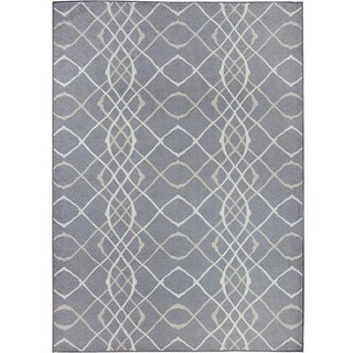 RUGGABLE Washable Indoor/ Outdoor Stain Resistant Pet Area Rug Amara Grey Stain Resistant Pet Area Rug (5' x 7') - 5' x 7'