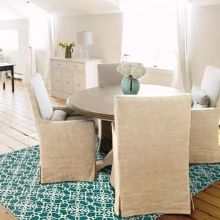 RUGGABLE Washable Indoor/ Outdoor Stain Resistant Pet Area Rug Floral Tiles Teal and White (4'x6') - 4' x 6'|https://ak1.ostkcdn.com/images/products/15419661/P21875467.jpg?impolicy=medium