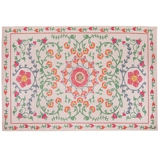 RUGGABLE Washable Indoor/ Outdoor Stain Resistant Accent Rug Suzi Coral (3' x 5')