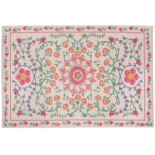RUGGABLE Washable Indoor/ Outdoor Stain Resistant Accent Rug Suzi Coral (3' x 5')|https://ak1.ostkcdn.com/images/products/15419664/P21875469.jpg?impolicy=medium