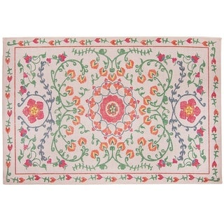 RUGGABLE Washable Indoor/ Outdoor Stain Resistant Pet Accent Rug Suzi Coral - 3' x 5'