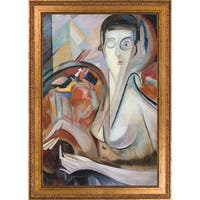 Alice Bailly 'Self Portrait' Hand Painted Framed Oil Reproduction on Canvas
