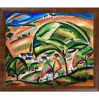 Alice Bailly 'Landscape at Orsay' Hand Painted Framed Oil Reproduction on Canvas