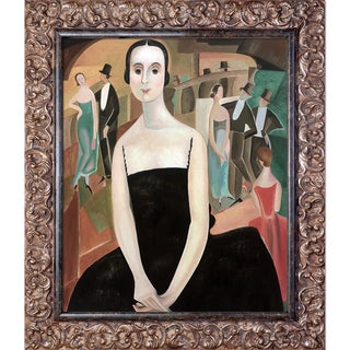 Alice Bailly 'Intermission' Hand Painted Framed Oil Reproduction on Canvas